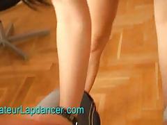 Amateur pregnant teen lapdances