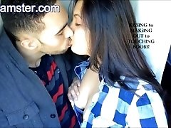 Passionate Indian Couple Kissing...