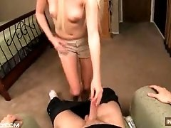 POV father daughter handjob...