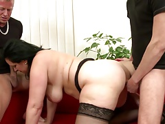 Mature sexbombs moms take young...