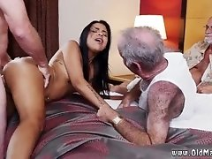 Old men licking pussy and old...